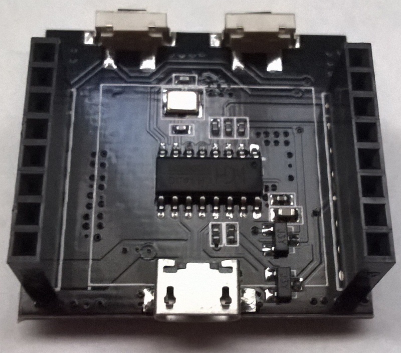 front of bottom PCB