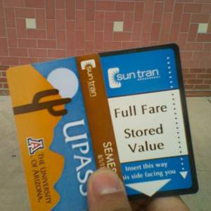 Sun Tran U-PASS and full fare stored value pass