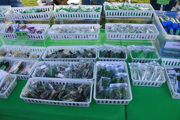 geocache containers sold at a vendor booth