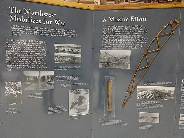 The Northwest Mobilizes for War display at Pearson Air Museum
