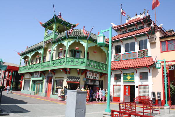 colorful buildings in Los Angeles Chinatown, 2012-06-01