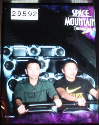 me at Space Mountain, 2011-12-25