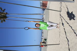 me doing pull-ups on gymnastics rings, 2012-06-05