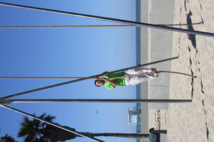 me doing pull-ups on a rope, 2012-06-05
