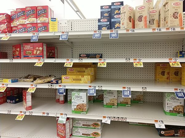 Giant Foods, 2020-03-13, pasta shelf